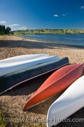 Echo Lake Canoes Qu Appelle Valley Saskatchewan