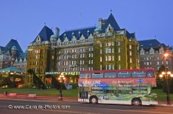 Empress Hotel Tour Bus Victoria Twilight
