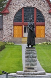 Evangeline Statue Memorial Church Nova Scotia