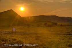 Farmland Sunset Scenery Big Muddy Badlands Southern Saskatchewan