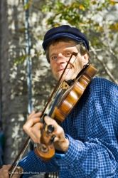 Fiddler Musician Old Quebec Canada