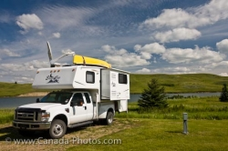 Firerock Campground Camper Elkwater Lake Alberta