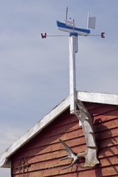Fishing Stage Weathervane Newfoundland Harbour