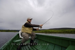Fly Fishing Boat Southern Labrador Canada