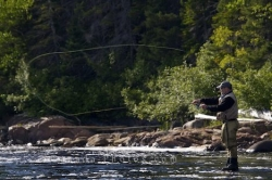 Fly Fishing Casting Line White Bear River