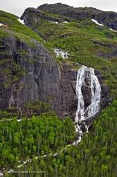 Forest Waterfall Mealy Mountains Southern Labrador