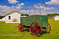 Fort Walsh Wagon Cypress Hills Interprovincial Park Saskatchewan