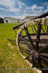 Red River Cart Wheel Spokes Fort Walsh