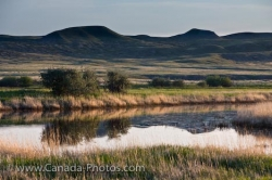 Frenchman River Valley Water Saskatchewan Canada