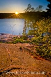 George Lake Sunset Killarney Provincial Park Ontario