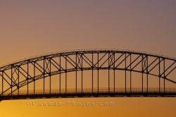 Golden Sunset International Bridge Sault Ste Marie Ontario