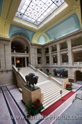 Grand Staircase View Legislative Building Winnipeg City