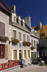 Historic Stone Buildings Old Quebec