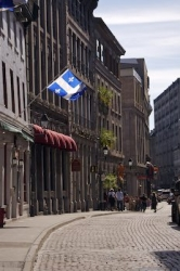 Historic Street Buildings Old Montreal Quebec