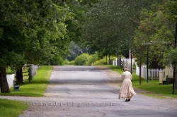 Historic Village Woman Sherbrooke Nova Scotia