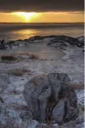 Hudson Bay Winter Sunset Churchill Manitoba