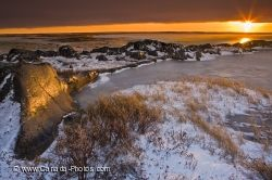 Hudson Bay Yellow Sunset Churchill Manitoba