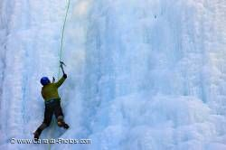 Ice Climbing Blue Ice Banff National Park