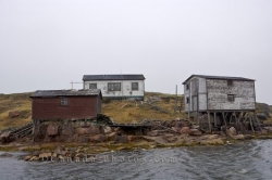 Indian Cove Waterfront Scenery Fishing Stages Labrador