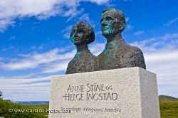 Ingstad Statue L Anse Aux Meadows Newfoundland