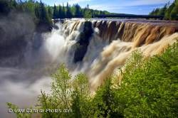 Kakabeka Falls Waterfall Spring Flood