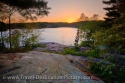 Killarney Provincial Park George Lake Sunset Ontario Canada