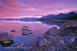 Pristine Kluane Lake Sunset Yukon