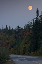La Mauricie National Park Autumn Full Moon Quebec