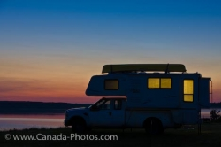 Lake Audy Camping Sunset Manitoba National Park