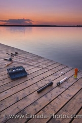 Lake Audy Sunset Fishing Equipment Manitoba