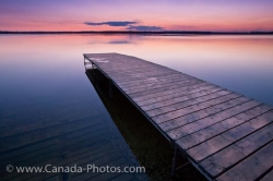 Lake Audy Wharf At Sunset Riding Mountain National Park