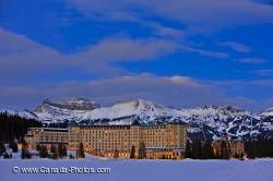 Fairmont Chateau Lake Louise Winter Dusk