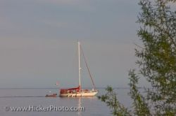 Lake Ontario Sailboat Toronto City Ontario