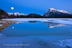 Vermilion Lake Moon Dusk Reflection