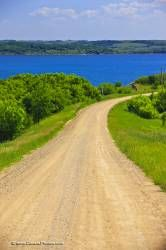 Last Mountain Lake Gravel Road Qu Appelle Valley Saskatchewan