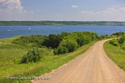 Last Mountain Lake Shoreline Road Saskatchewan Canada