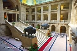 Legislative Building Grand Staircase Winnipeg City Manitoba