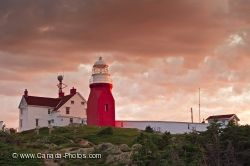 Long Point Lighthouse Sunset Twillingate Newfoundland