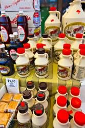 Maple Syrup products at Byward Market City of Ottawa Ontario Canada