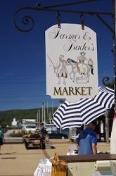Market Sign Annapolis Royal Bay Of Fundy Nova Scotia