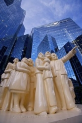 McGill College Avenue Illuminated Crowd Sculpture Montreal