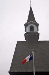 Memorial Church Bell Tower Acadian Flag Nova Scotia