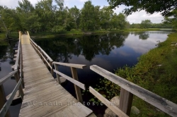 Mersey River Footbridge Nova Scotia Canada