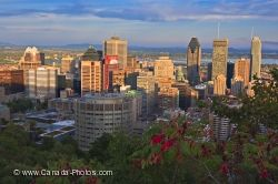 Montreal City Sunset Quebec Canada