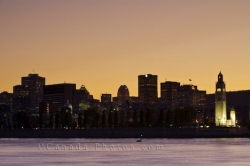 Montreal Skyline Sunset St Lawrence River