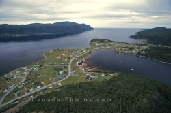 Newfoundland Town Aerial Gros Morne National Park
