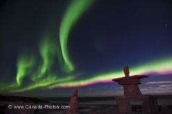 Northern Lights Inukshuk Churchill Manitoba
