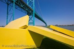 Odette Park Sculpture Bridge Picture Windsor Ontario