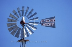 Old Metal Windmill St Jacobs Ontario