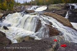 Sand River Waterfall Great Lakes Ontario
